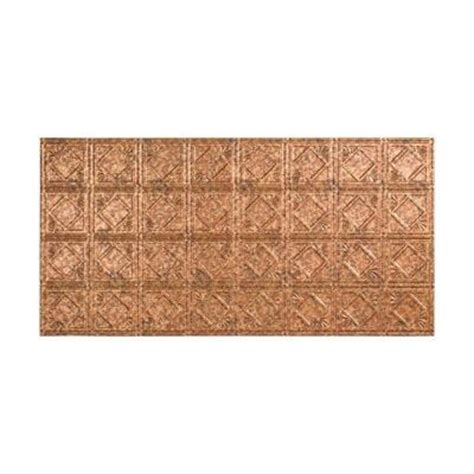 fasade traditional 4 2 ft x 4 ft glue up ceiling tile in cracked copper g53 19 the home depot