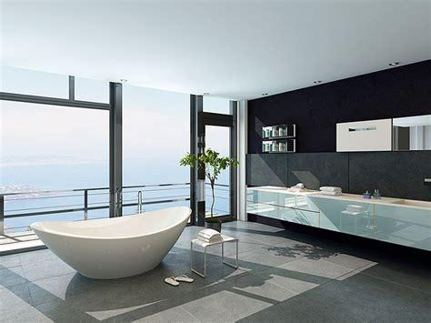 baignoire salle de bain design luxe naturelle