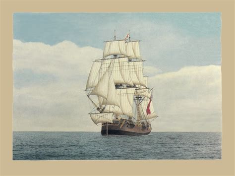 Boat Names Of The First Fleet by Gallery 2 Frank Allen Marine Artist
