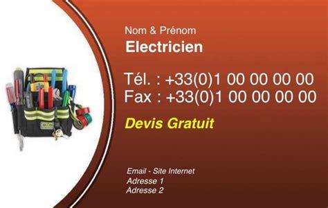 modele carte de visite electricien document
