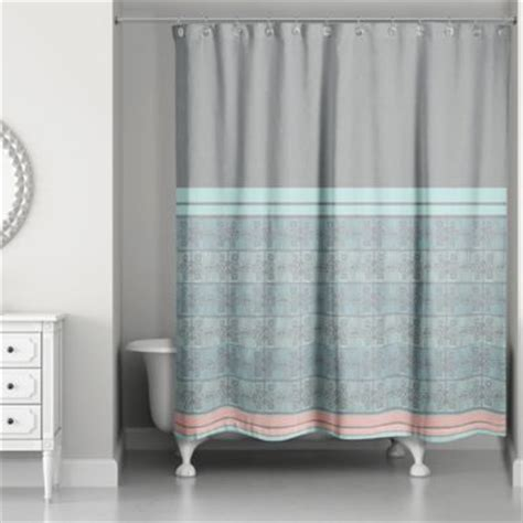 buy boho tribal shower curtain in mint blue from bed bath beyond