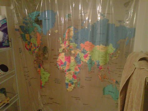 World Map Shower Curtain Bed Bath And Beyond