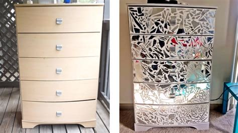 Diy Mirrored Dresser & Night Stands! Replacement Kitchen Drawers Uk Kobalt 5 Drawer Tool Chest 3 Box Small Bedroom Of How To Make Bed Frame With Definition Drawee And Payee Square Register Cash Printer