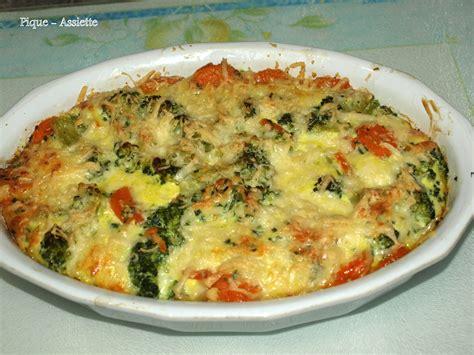 gratin l 233 ger de brocolis et carottes au cumin recettes au companion ou pas pique assiette