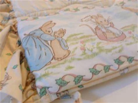 vintage beatrix potter rabbit crib nursery bedding
