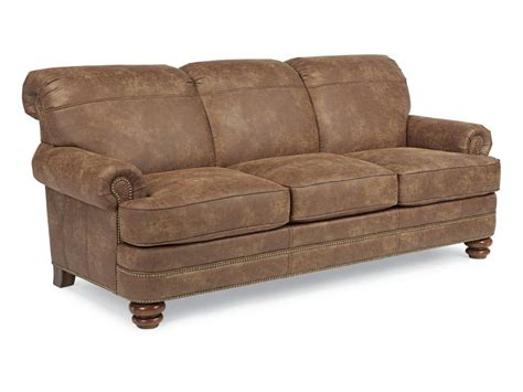 flexsteel living room nuvoleather sofa n7791 31 klopfenstein home rooms ft wayne in