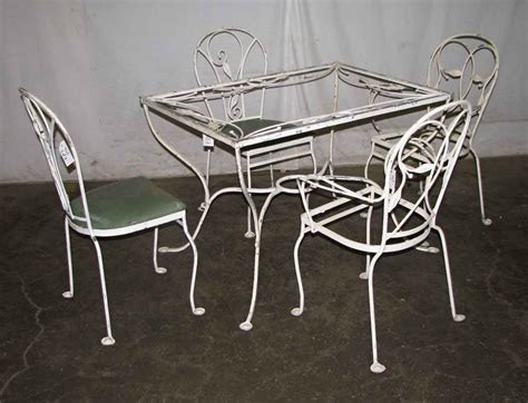 salterini wrought iron patio table chairs olde things
