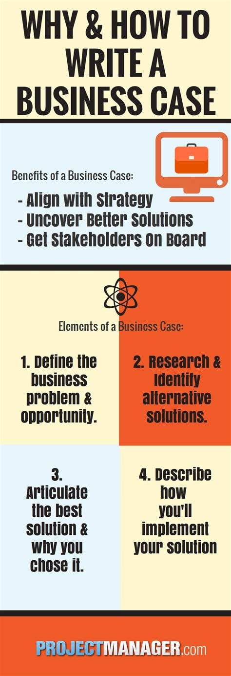 How To Write A Business Case Projectmanagercom