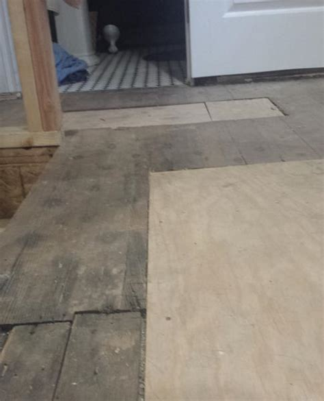 leveling an plank floor for cork installation