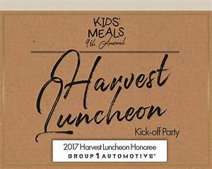 Your Invitation to the Harvest Luncheon Kick-off Party