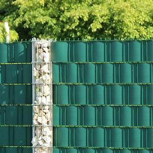 Balkon Sichtschutz Grün : pvc sichtschutzstreifen doppelstabmattenzaun gr n sichtschutz ~ Markanthonyermac.com Haus und Dekorationen