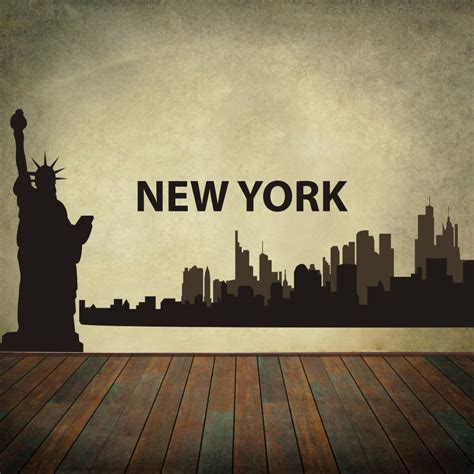 aliexpress buy new york city skyline silhouette the big apple wall stickers vinyl wall