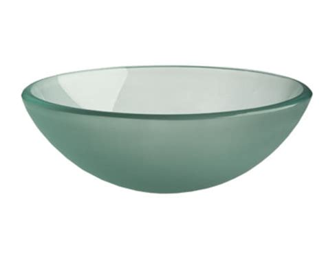 magick woods 16 1 2 quot frosted glass vessel sink at menards 174