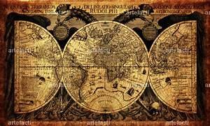 Alte Weltkarte Poster : weltkarte 1630 artefacti ~ Markanthonyermac.com Haus und Dekorationen
