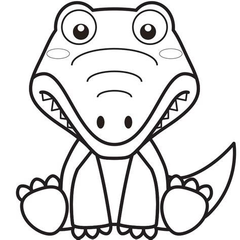 coloriage d un crocodile a imprimer gratuit