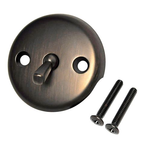 overflow plate with trip lever in rubbed bronze danco
