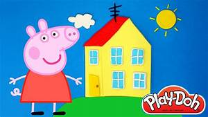 PEPPA PIG Play Doh House How to Make Peppa's House with ...