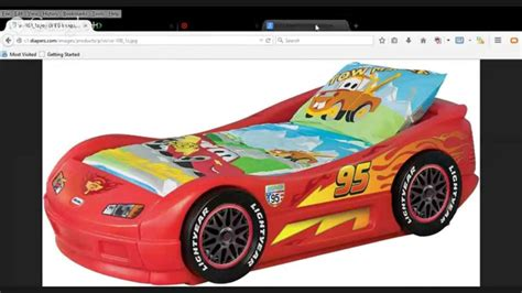 tikes lightning mcqueen toddler bed back