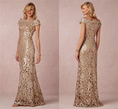 Boat Neck Mother Of The Groom Dress by Online Shop Elegant Chagne Mother Of The Bride Dress