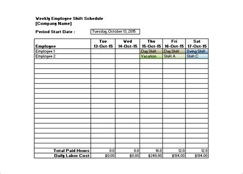 employee roster template retail shift schedule templates 11 free sle exle format