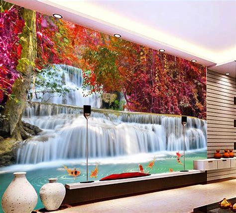 pas cher 3d fond d 233 cran personnalis 233 murale non tiss 233 3d chambre papier peint paysage cascades