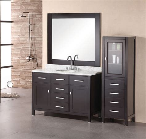 48 inch modern single sink bathroom vanity with white marble uvde076c48