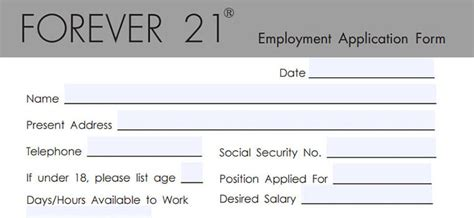 Forever 21 Application  2018 Careers, Job Requirements