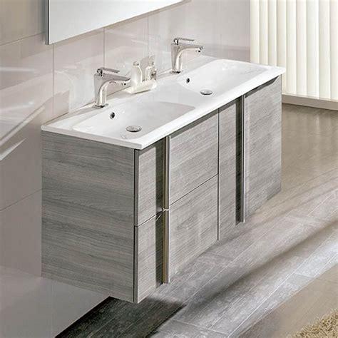 meuble salle de bain 120 cm 2 tiroirs 2 portes vasque polyb 233 ton onix