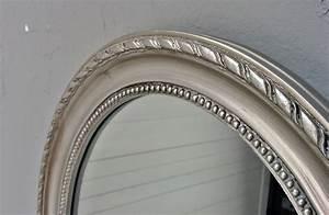 Spiegel Oval Silber : spiegel silber antik oval 47x37cm holz wandspiegel barock badspiegel flurspiegel ~ Markanthonyermac.com Haus und Dekorationen