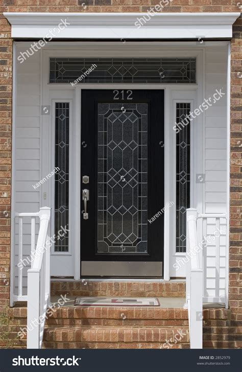 Nice Front Door Of House From Exterior View Stock Photo