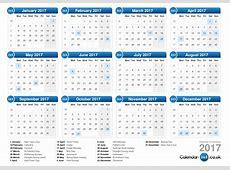 2017 Calendar Uk monthly calendar template