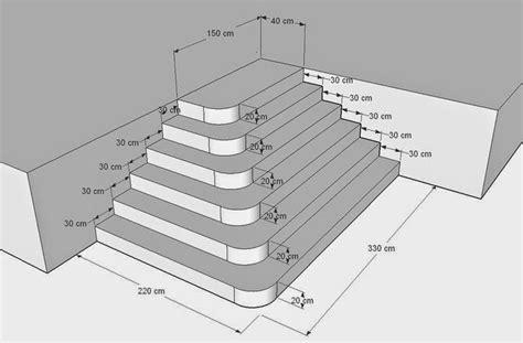 batirsamaison net construire un escalier en b 233 ton de type pyramidal avec angles arrondis