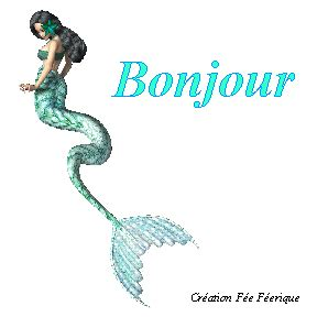gif anim 233 bonjour avec une sirene qui nage creation de la fee feerique le de la f 233 e
