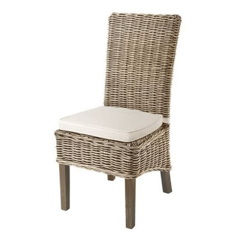 grey kubu rattan seat dining chair with seat pad aspen dining furniture