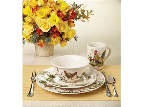 Home Interior Rooster Dishes : Paula Deen Southern Rooster 16-pc. Dinnerware Set