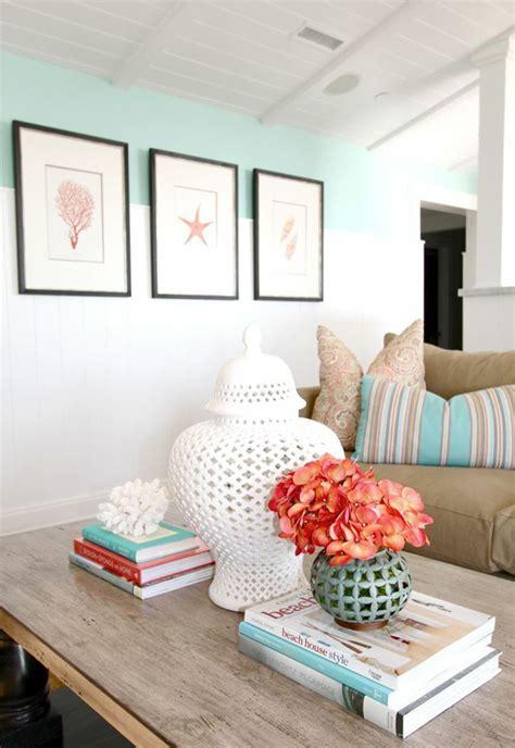 sea coral living room decor