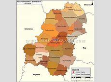 Kaluga Map, Oblast of Kaluga, Russia