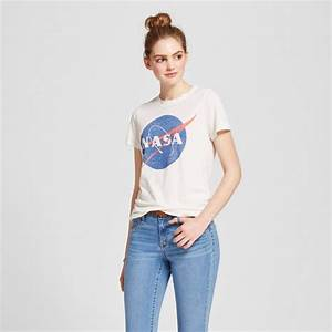 Women's NASA® Graphic T-Shirt Cream - Zoe+Liv (Juniors ...