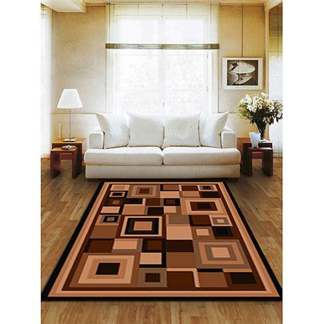 living room rugs walmart terra matrix woven olefin square area rug chocolate