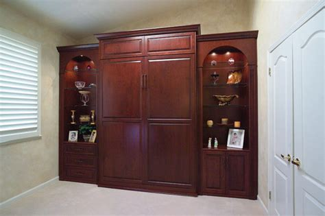 stained wood wall bed side cabinets traditional bedroom san francisco by valet custom