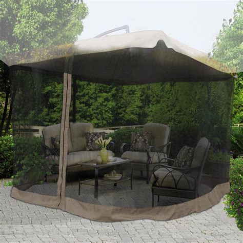 Offset Patio Umbrella W Mosquito Netting by 9 X9 Mosquito Netting Bug Mesh Net For Outdoor Patio