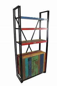 Bücherregale Mit Türen : b cherregal mit t ren aus teak recyclingholz und metall ready 2 buy das m belhaus in hamburg ~ Markanthonyermac.com Haus und Dekorationen