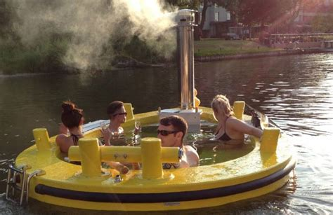 Hot Tub Boat by The Wood Fired Hot Tub That S Also A Boat