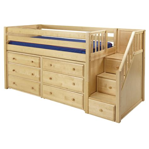 Low Loft Bed With Desk And Dresser by Great Low Loft Bed With Dressers And Staircase