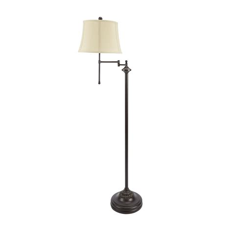 overarching linen shade floor l polished nickel west elm lights and ls