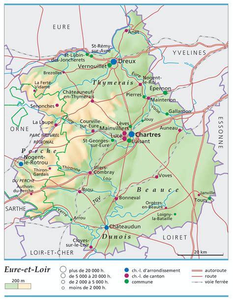 carte de l eure et loir eure et loir carte d 233 partement 28 ville tourisme