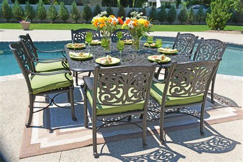 trend mainstays crossman 7 patio dining set green