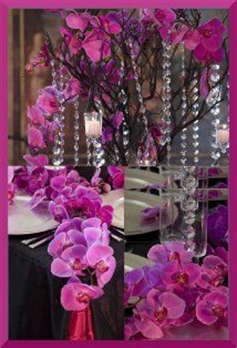 1000 images about une table fuchsia on mariage orchid centerpieces and flute