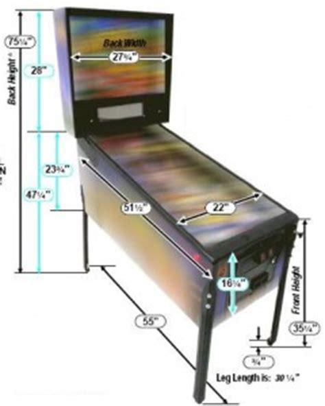 arcade pinball machine dimensions castle classic