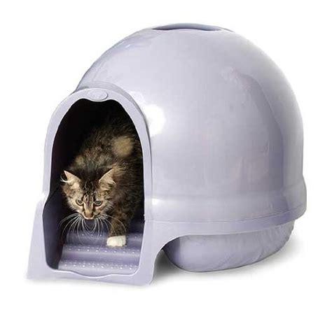 maison de toilette cleanstep pour chats en forme d igloo